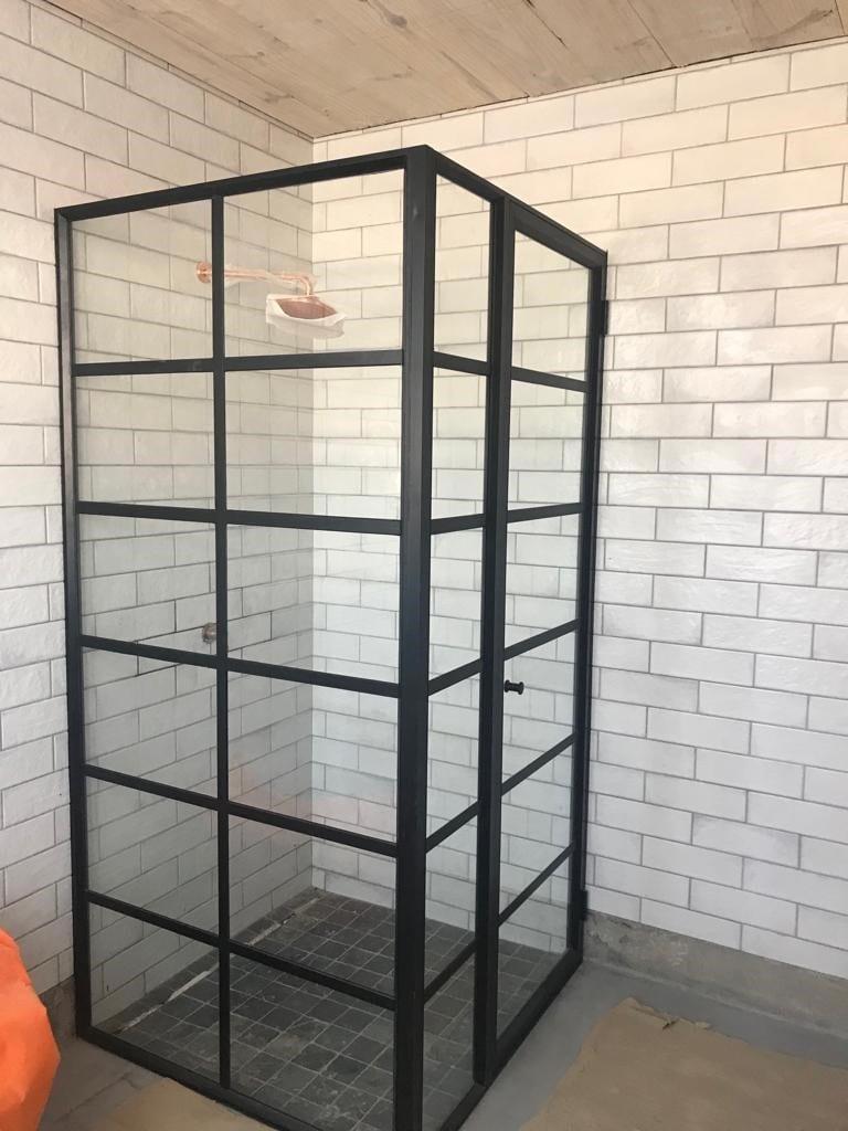 Black Framed Glass Showers