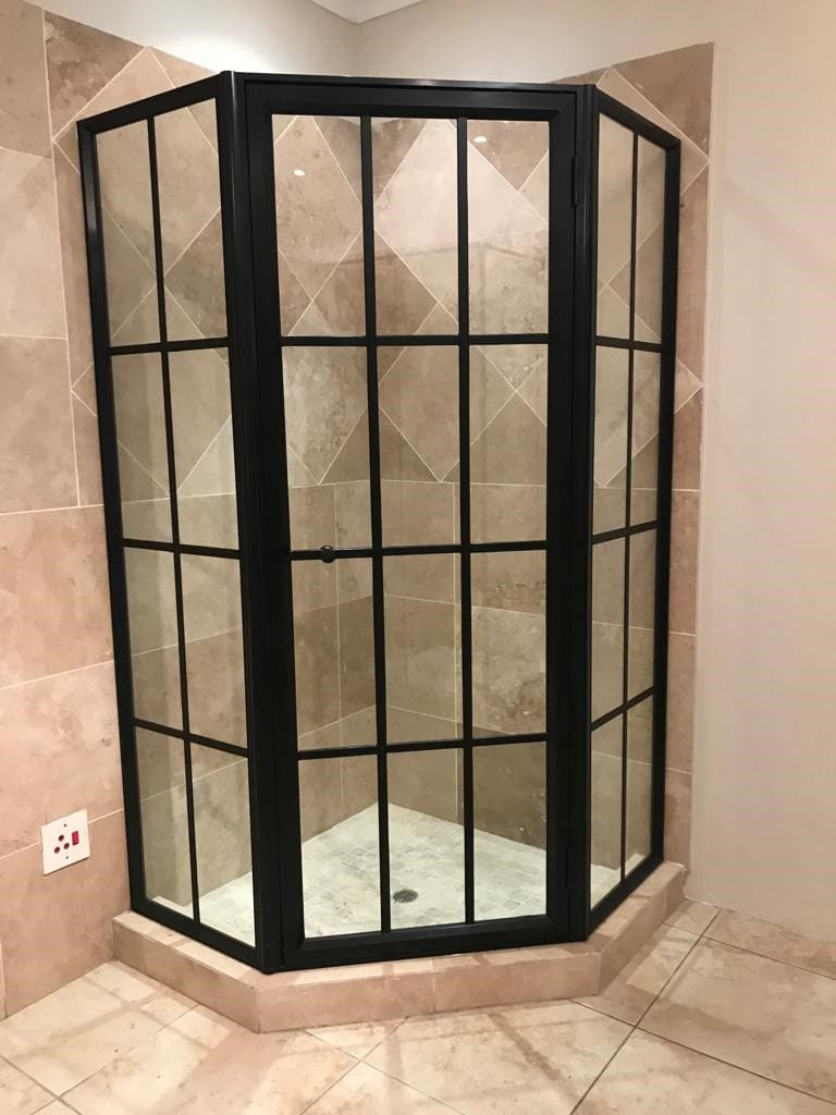 Black Framed Glass Showers