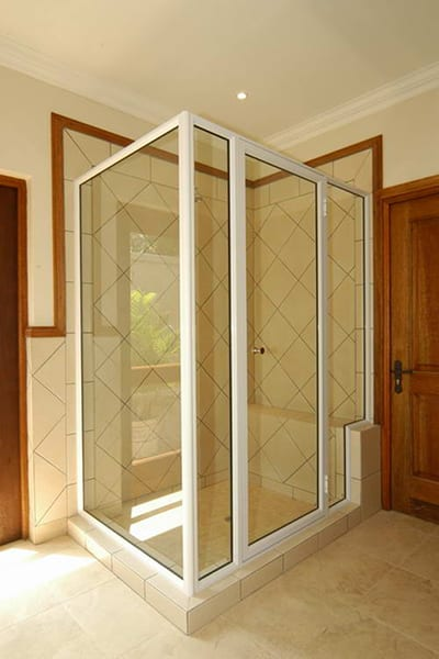 Radiant Glass Framed Shower