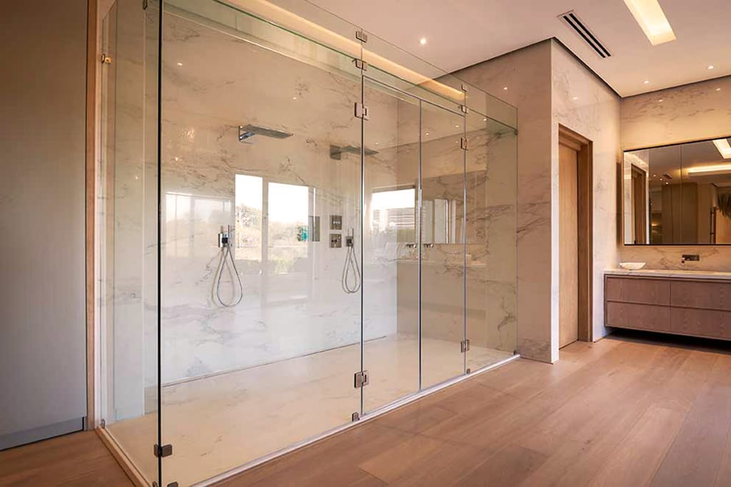 Radiant Glass Frameless Shower